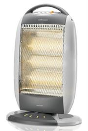 Mellerware 3 Bar Halogen Heater (35400), 3 Heat settings 1200W, Automatic Tip Over Cut Out Protection,  Left and right Oscillating Function, Retail Box, 1 year warranty Product Overview: The halogen heater of the Mellerware Contem